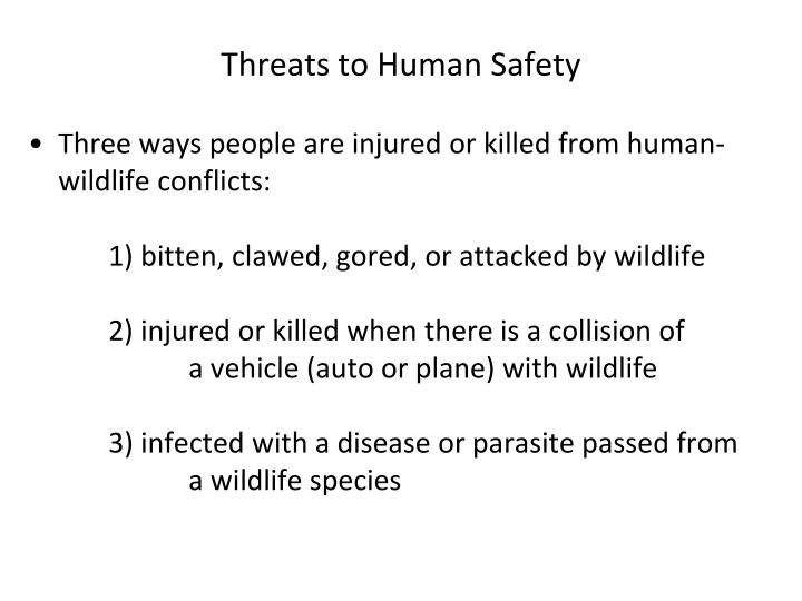 Threats to Human Safety