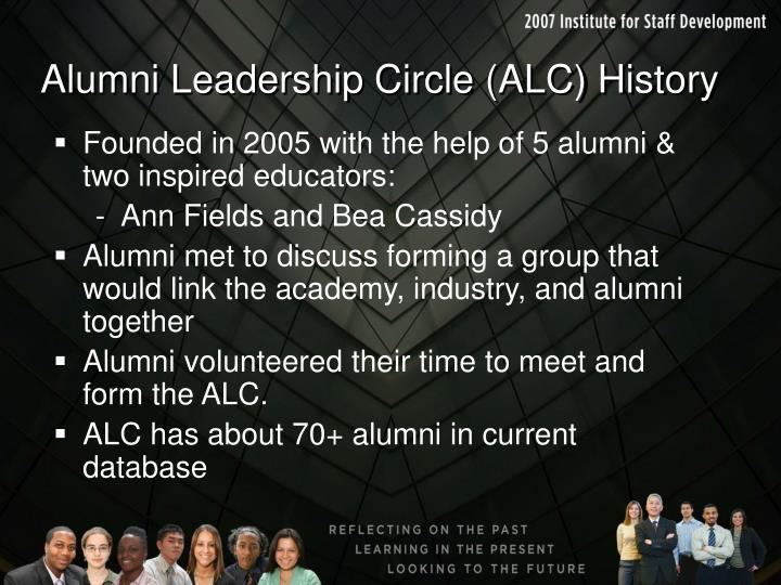 Alumni leadership circle alc history