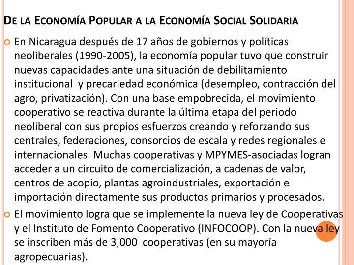 De la Economía Popular a la Economía Social Solidaria
