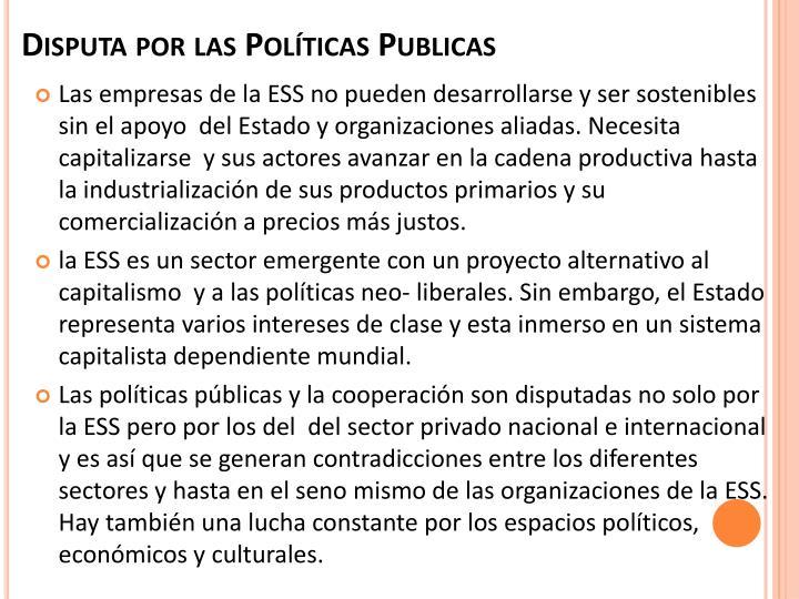 Disputa por las Políticas Publicas