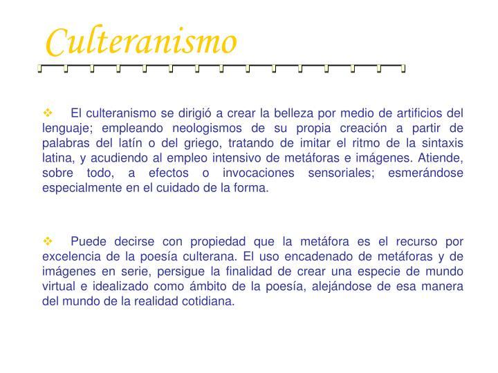Culteranismo