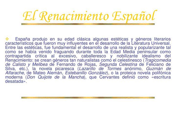 El Renacimiento Español