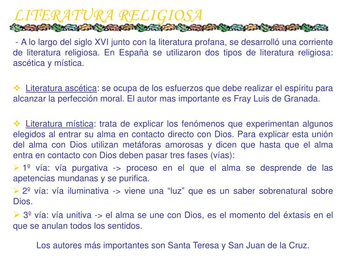 LITERATURA RELIGIOSA