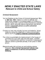 newly enacted state laws relevant to child and school safety
