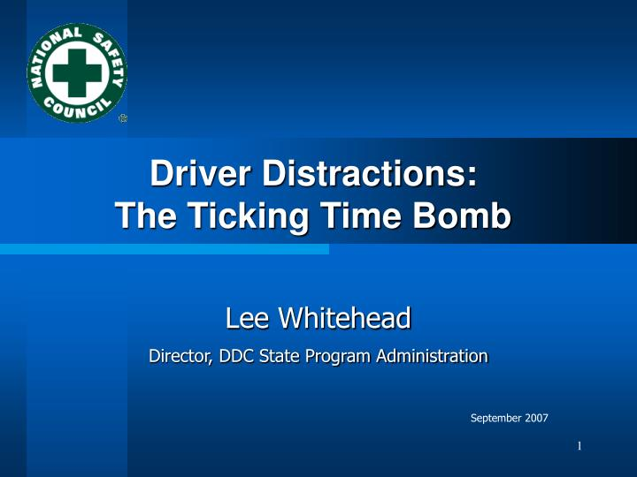 driver distractions the ticking time bomb n.