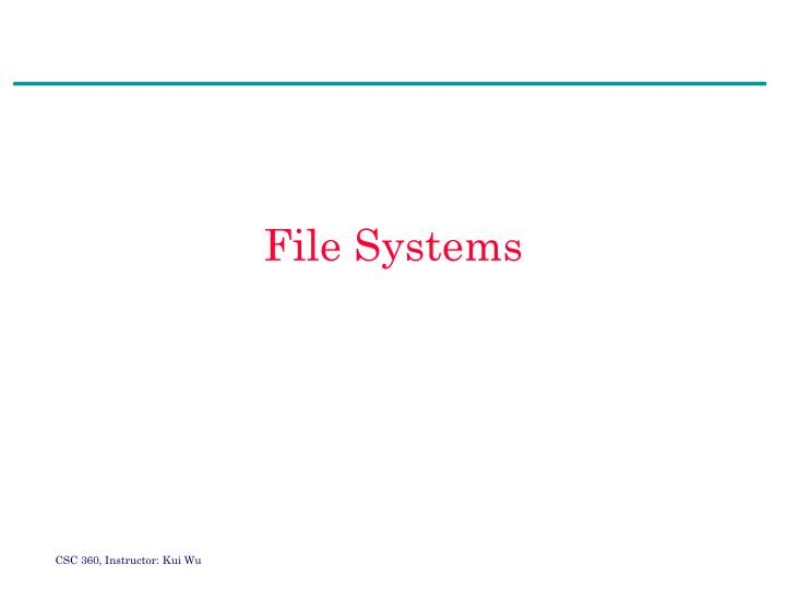 file systems n.