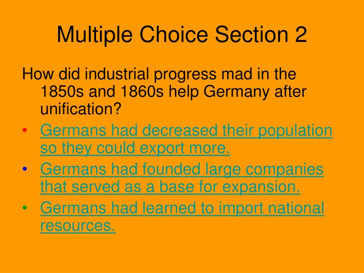 Multiple Choice Section 2
