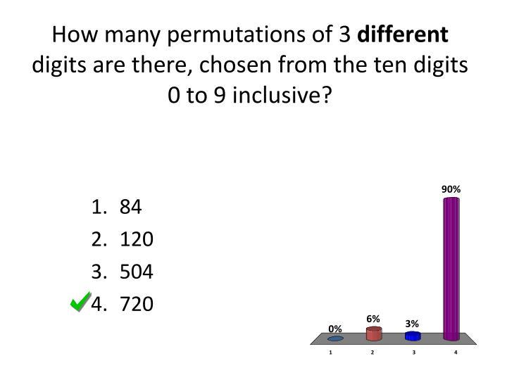 How many permutations of 3