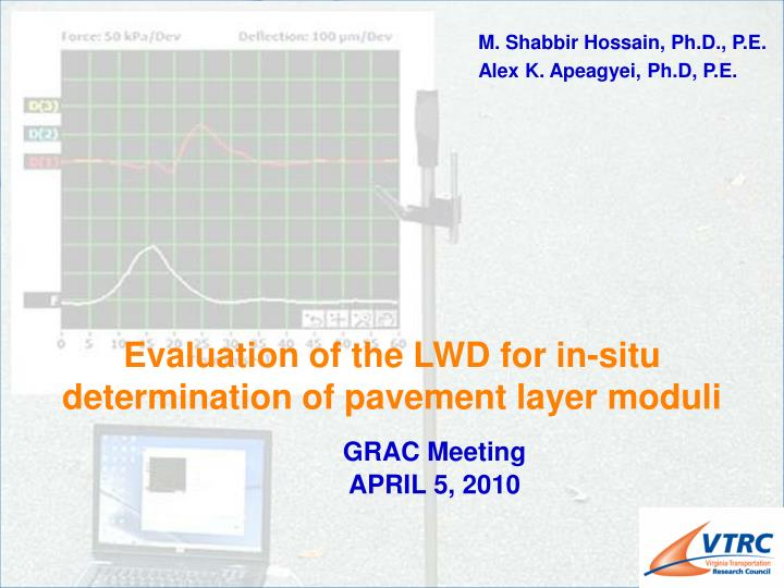 evaluation of the lwd for in situ determination of pavement layer moduli n.