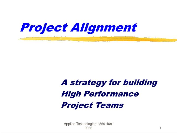 project alignment n.