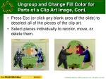 ungroup and change fill color for parts of a clip art image cont