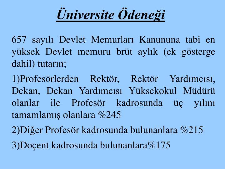 Üniversite Ödeneği
