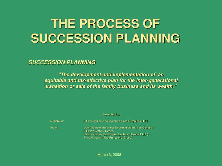 the process of succession planning n.