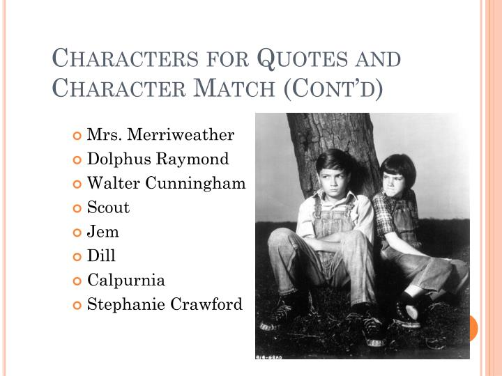 Characters for Quotes and Character Match (Cont'd)