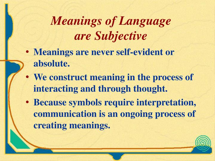 Meanings of Language