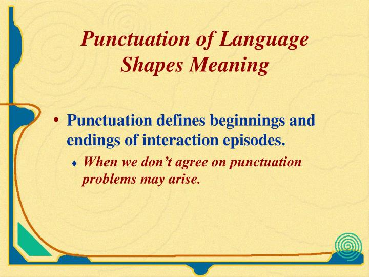 Punctuation of Language