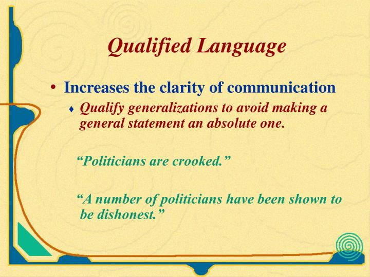 Qualified Language