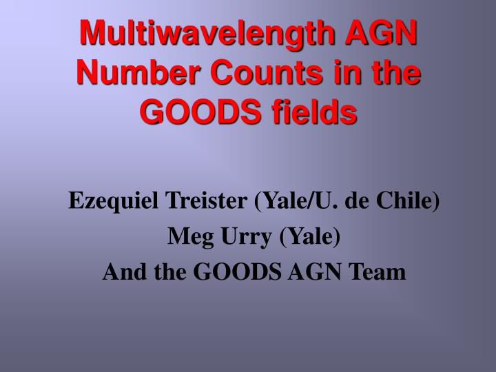 multiwavelength agn number counts in the goods fields n.