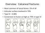 overview calcaneal fractures