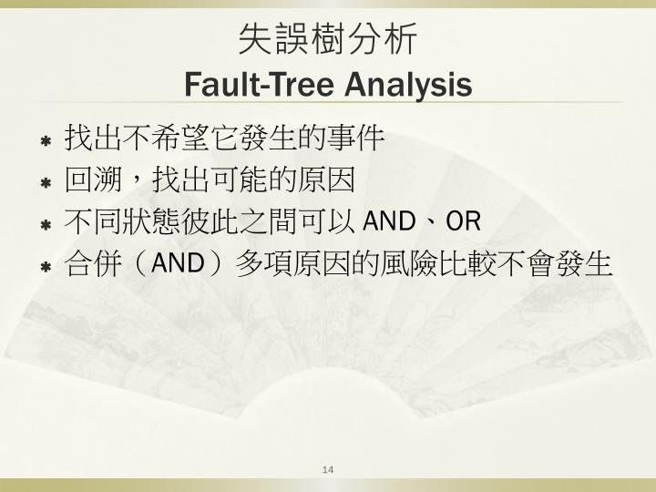 失誤樹分析