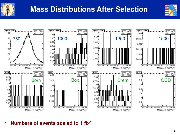 Mass Distributions After Selection