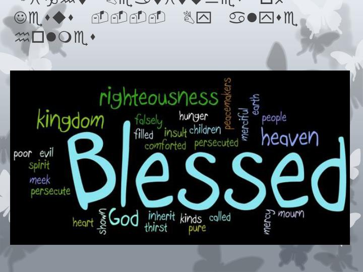 the eight beatitudes of jesus by alyse holmes n.