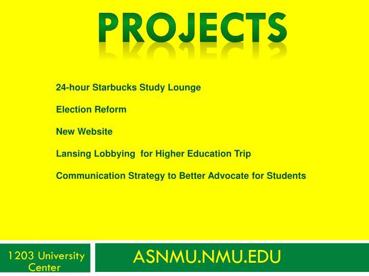 24-hour Starbucks Study Lounge