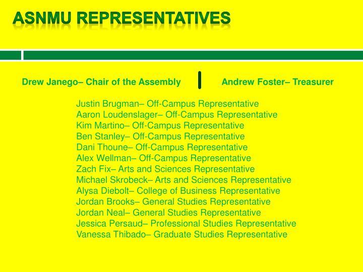 ASNMU Representatives