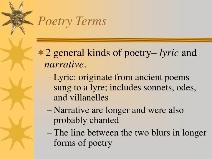 PPT - Poetry Terms PowerPoint Presentation - ID:5449476