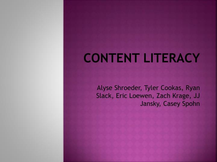 content literacy n.
