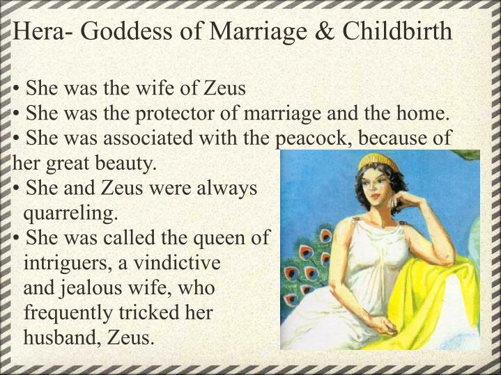 Hera- Goddess of Marriage & Childbirth