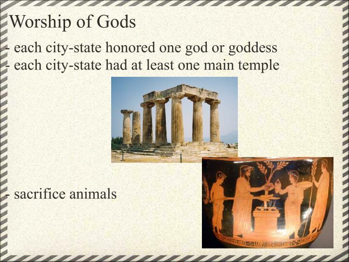 Worship of Gods