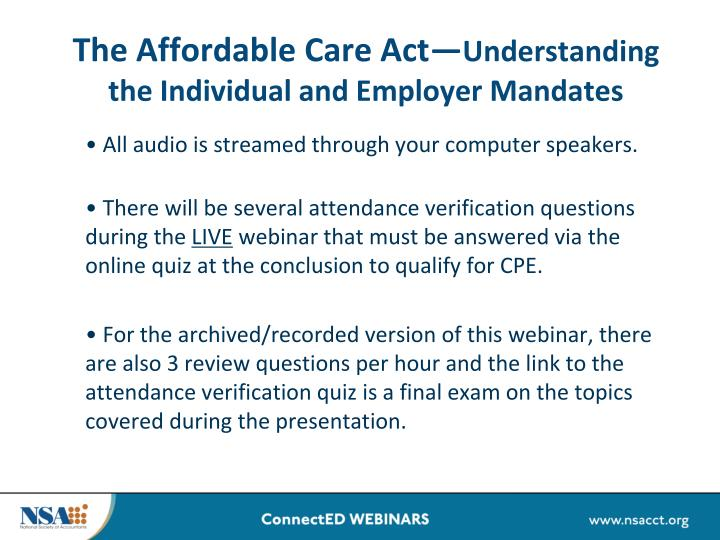 the affordable care act understanding the individual and employer mandates n.
