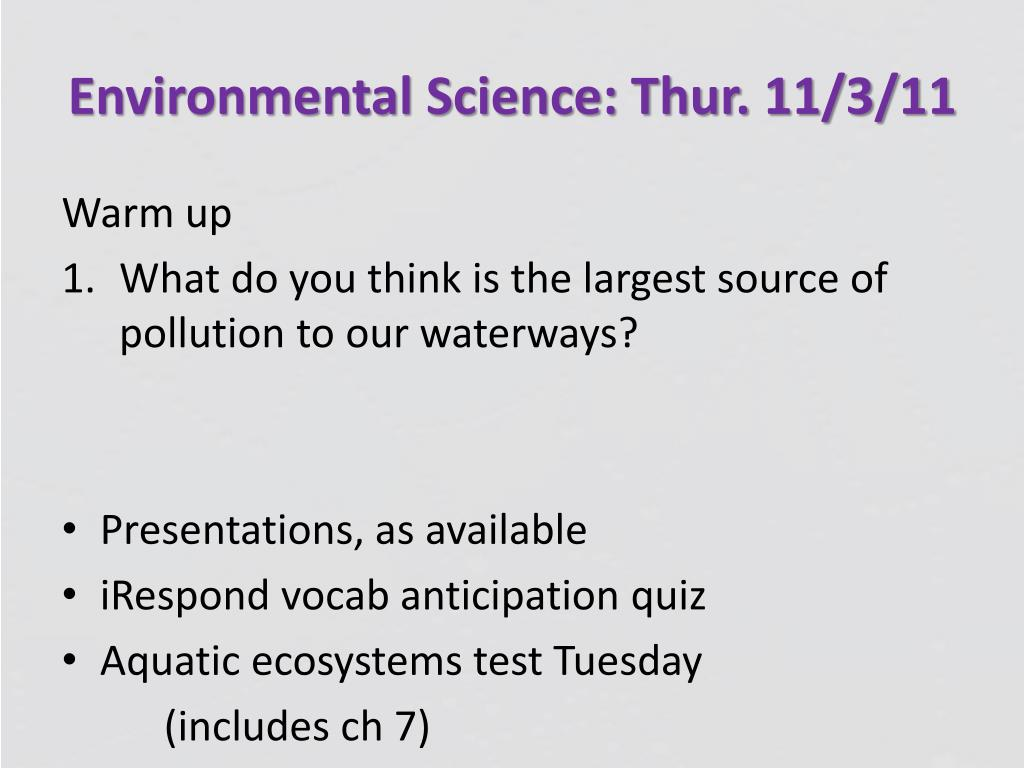 PPT - Environmental Science PowerPoint Presentation, free