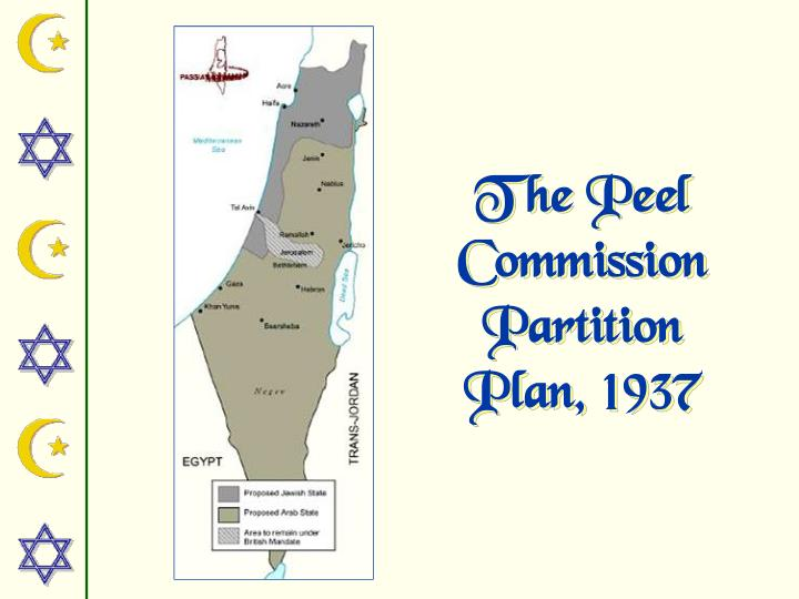 The Peel Commission Partition Plan, 1937