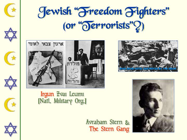 "Jewish ""Freedom Fighters"""