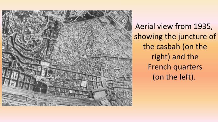 Aerialviewfrom1935,showingthejunctureofthe