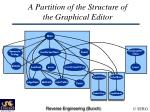 a partition of the structure of the graphical editor
