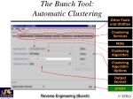 the bunch tool automatic clustering