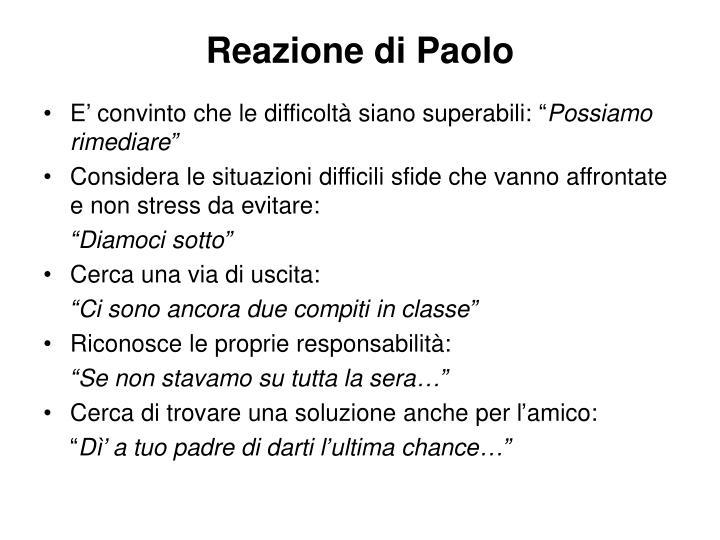 Reazione di Paolo