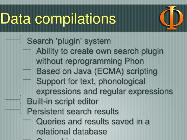 Data compilations