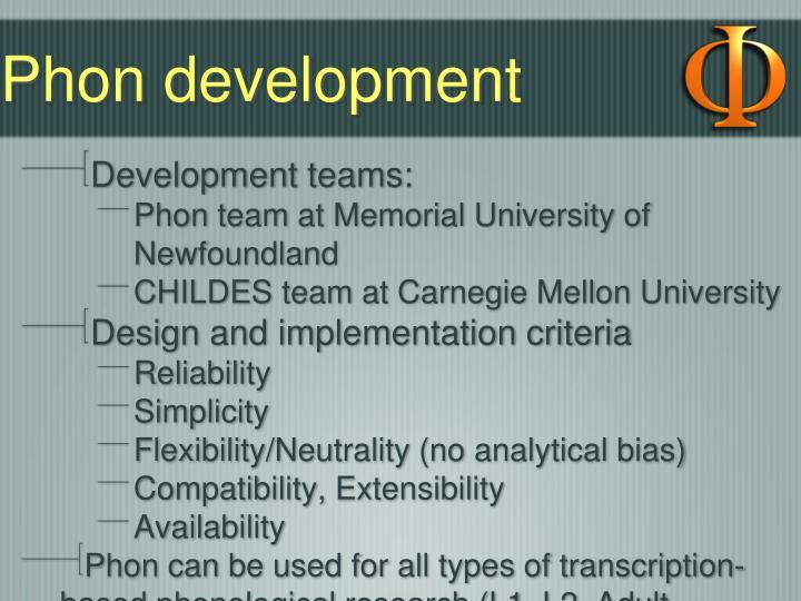 Phon development