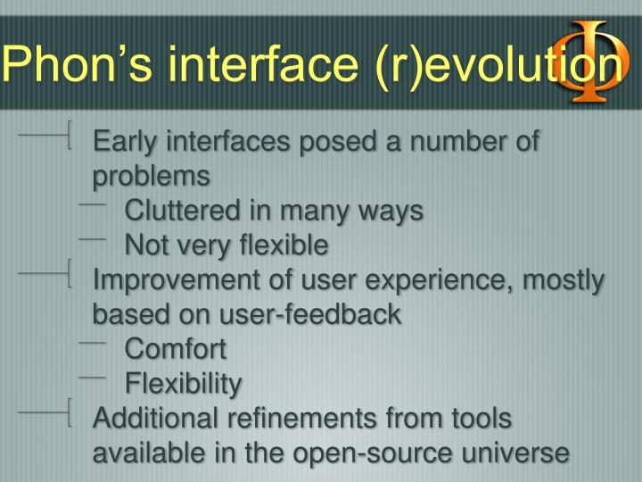 Phon's interface (r)evolution