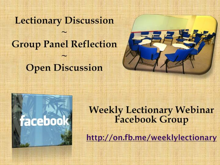 Lectionary Discussion
