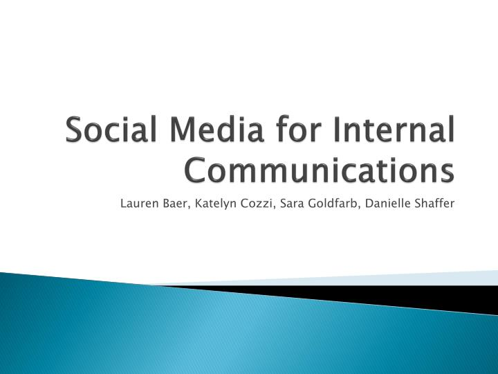 social media for internal communications n.