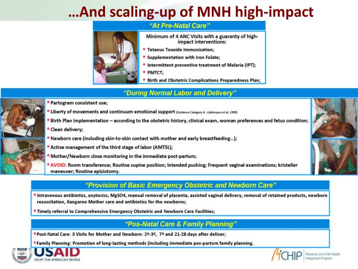 …And scaling-up of MNH high-impact interventions: