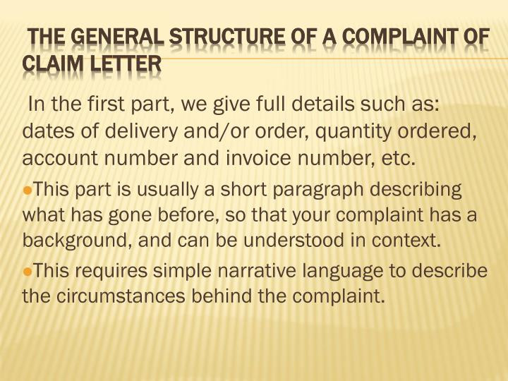 Ppt Complaint Claim And Settlement Powerpoint Presentation Id