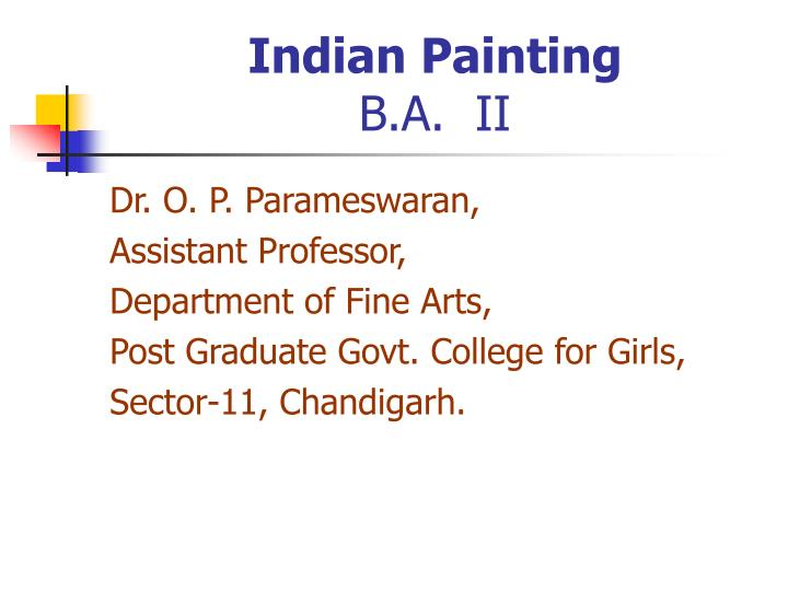 indian painting b a ii n.