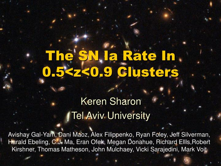 the sn ia rate in 0 5 z 0 9 clusters n.