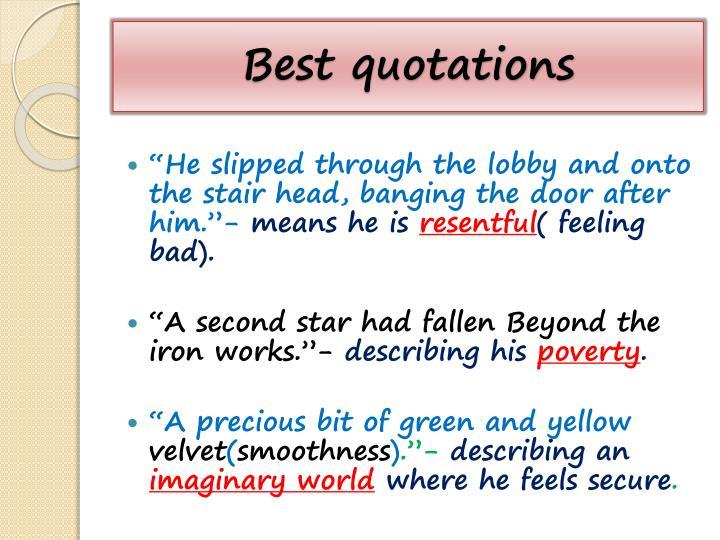 Best quotations